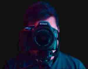 camera on face