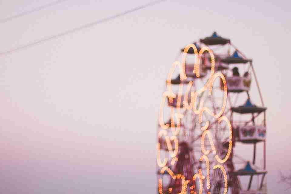 ferris wheel Gaussian blur filter