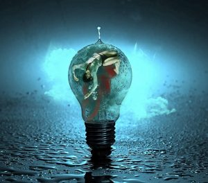 imagery of water, light, and energy